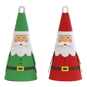 Papercraft de adornos de Papa Noel. Manualidades a Raudales.