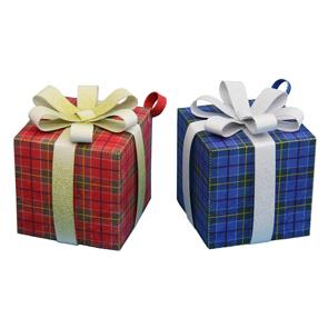 Papercraft de adornos de cajas para regalos. Manualidades a Raudales.