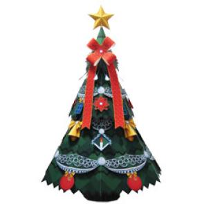 Papercraft de un árbol de navidad básico / Christmas tree. Manualidades a Raudales.
