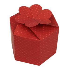 Papercraft de una caja de regalo roja. Manualidades a Raudales.