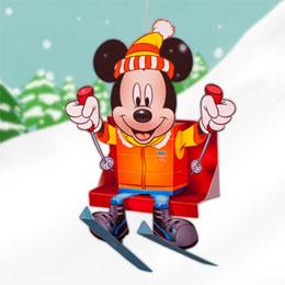 Disney - Mickey esquiador.