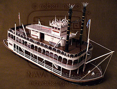 Paper model del Barco de Mark Twain. Manualidades a Raudales.