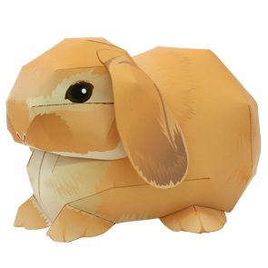 Papercraft de un Conejo Holland Lop / Holland Lop Rabbit. Manualidades a Raudales.