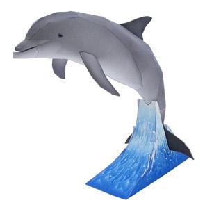 Papercraft de un Delfín Mular. Manualidades a Raudales.