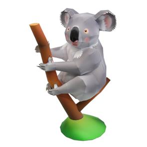 Papercraft de un Koala. Manualidades a Raudales.