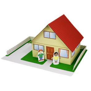 Papercraft de una Casa / House. Manualidades a Raudales.