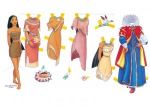 Recortable de Pocahontas de Disney. Manualidades a Raudales.