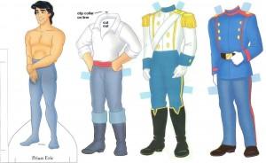 Recortable del Príncipe Eric de la Sirenita de Disney. Manualidades a Raudales.