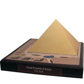 Papercraft building de la Gran Pirámide de Kufu en Egipto. Manualidades a Raudales.