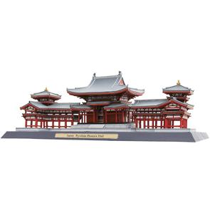 Papercraft building recortable del Templo de Byodo In. Manualidades a Raudales.