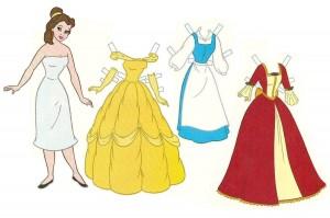 Recortable de Bella y Bestia de Disney. Manualidades a Raudales.