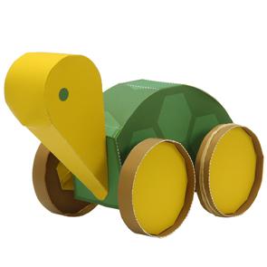 Papercraft de una Tortuga propulsada. Manualidades a Raudales.