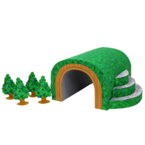 Papercraft de un Tunel / Tunnel. Manualidades a Raudales.
