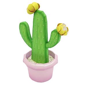 Papercraft recortable de un Cactus opuntia. Manualidades a Raudales.