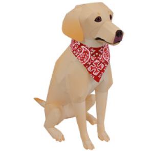 Papercraft del Perro Labrador Retriever. Manualidades a Raudales.