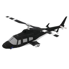 Papercraft de un Helicóptero negro. Manualidades a Raudales.