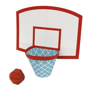 Papercraft de un Juego de baloncesto. Manualidades a Raudales.
