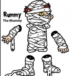 Marioneta de una Momia. Manualidades a Raudales.