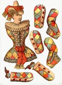 Marioneta de un arlequín. Manualidades a Raudales.