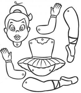 Marioneta de un bailarina. Manualidades a Raudales.