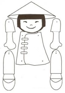 Marioneta de un chino. Manualidades a Raudales.