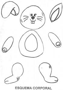 Marioneta de un conejo. Manualidades a Raudales.