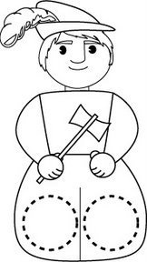 Marioneta dedos de un leñador. Manualidades a Raudales.