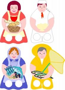 Marionetas dedos de las profesiones 1. Manualidades a Raudales.