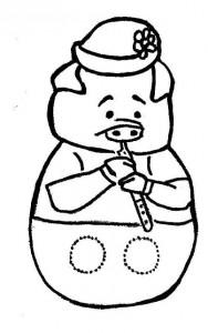 Marioneta dedos del cerdito 2. Manualidades a Raudales.