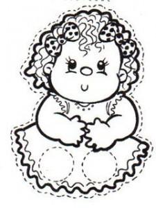 Marioneta dedos de una niña. Manualidades a Raudales.