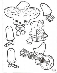Marioneta de un esqueleto mejicano.