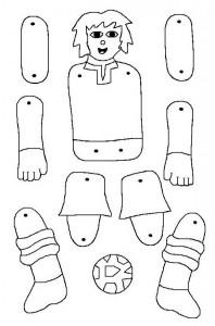 Marioneta de un futbolista. Manualidades a Raudales.