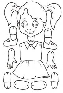 Marioneta de una niña.