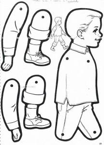 Marioneta de un niño. Manualidades a Raudales.