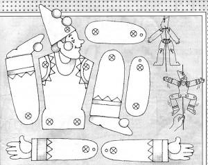Marioneta de un payaso 3.
