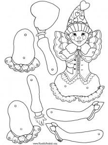 Marioneta de un payaso 4. Manualidades a Raudales.