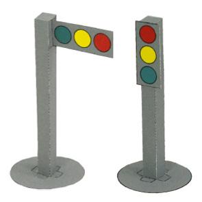 Papercraft imprimible y armable de un Semáforo / Signals. Manualidades a Raudales.