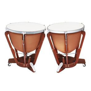 Papercraft imprimible y armable de unos Timbales / Timpani. Manualidades a Raudales.