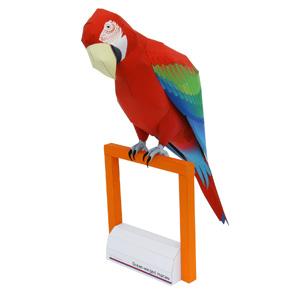 Papercraft de un Guacamayo rojo. Manualidades a Raudales.
