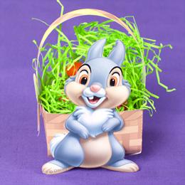 Easter - Cesta de huevos con conejo.