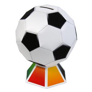 Papercraft de una Hucha de un balón de fútbol. Manualidades a Raudales.