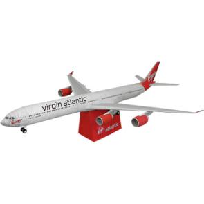Papercraft del Airbus 340-600. Manualidades a Raudales.