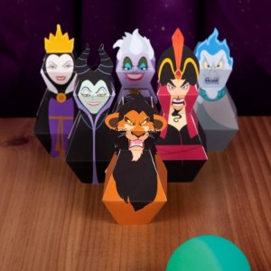 Papercraft de los Villanos de Disney. Manualidades a Raudales.