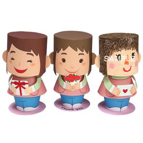 Papercraft de muñecos con mensaje para el Día de la Madre. Manualidades a Raudales.