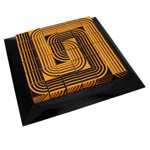 Papercraft de un Puzzle cúbico geométrico amarillo. Manualidades  a Raudales.