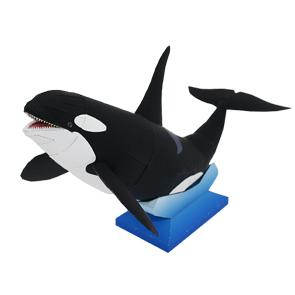Papercraft de una Orca. Manualidades a Raudales.