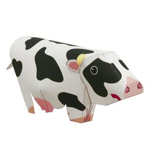 Papercraft de una Vaca / Cow. Manualidades a Raudales.