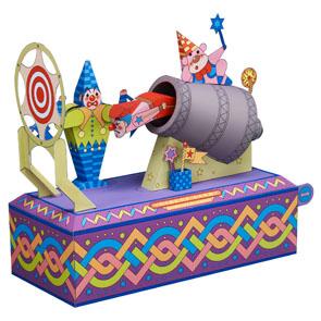 Papercraft del Circo. Payaso bala. Manualidades a Raudales.