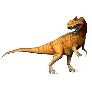 Papercraft del Dinosaurio - Allosaurus. Manualidades a Raudales.
