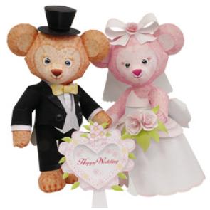 Papercraft de Osita y osito de boda. Manualidades a Raudales.